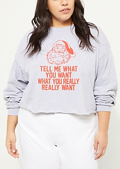 Plus Gray What You Really Want Santa Tee