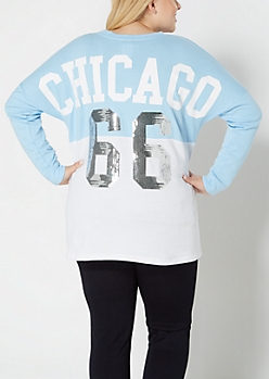 Plus Chicago Bulls Sequined Sweatshirt