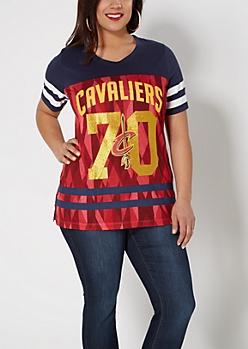 Plus Cleveland Cavaliers Geo Gridiron Tee