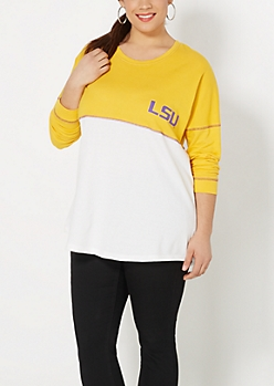 Plus LSU Blocked Sweatshirt