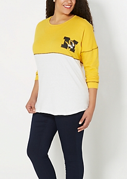 Plus Mizzou Tiger Blocked Drop Yoke Sweatshirt