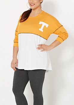 Plus University of Tennessee Blocked Sweatshirt