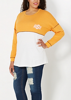 Plus Oklahoma State Blocked Sweatshirt