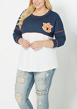 Plus Auburn University Blocked Sweatshirt