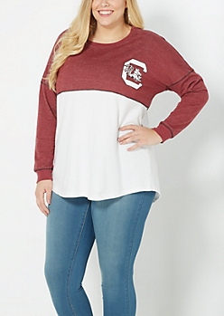 Plus University of South Carolina Blocked Sweatshirt