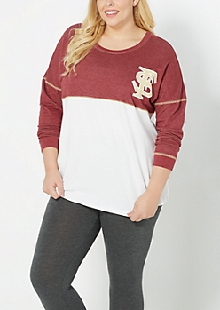 Plus Florida State Blocked Sweatshirt