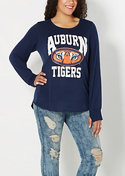 Plus Auburn Logo Knit Top