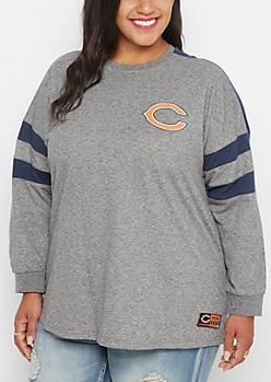 Plus Chicago Bears Athletic Striped Sweatshirt