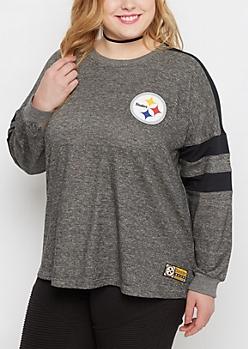 Plus Pittsburgh Steelers Pieced Sweatshirt