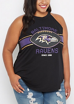 Plus Baltimore Ravens High Neck Tank