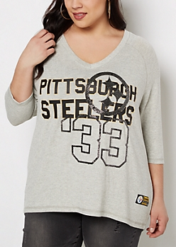 Plus Pittsburgh Steelers Caviar Foiled Shirt