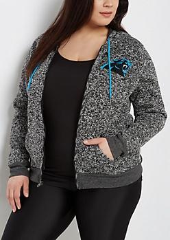 Plus Carolina Panthers Zip Sweater Hoodie