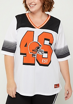 Plus Cleveland Browns Striped Football Jersey