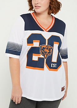 Plus Chicago Bears Striped Football Jersey