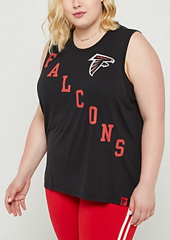 Plus Atlanta Falcons Vintage Logo Tank Top