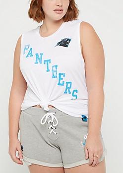 Plus Carolina Panthers Vintage Logo Tank Top