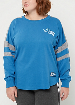 Plus Detroit Lions Drop Yoke Sweatshirt