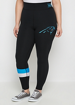 Plus Carolina Panthers Striped Legging