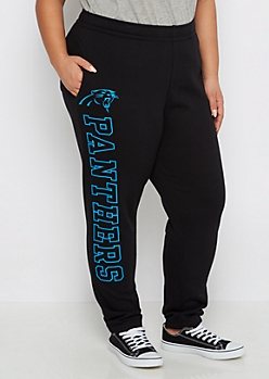 Plus Carolina Panthers Logo Leg Jogger