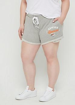 Plus Denver Broncos Lace Up Knit Short