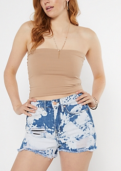 Taupe Double Lined Tube Top