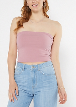 Dusty Pink Double Lined Tube Top