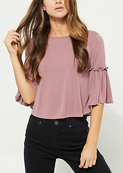 Pink Bell Sleeve Top
