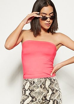 Neon Pink Super Soft Tube Top