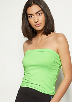 Neon Green Super Soft Tube Top