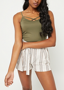 Olive Lattice Cami