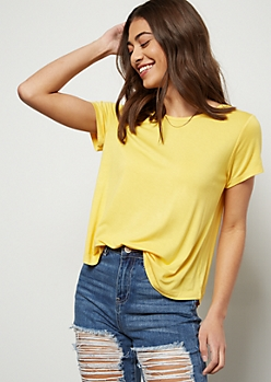 Yellow Short Sleeve Favorite Tee