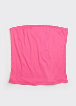 Neon Fuchsia Soft Tube Top
