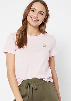 Pink Donut Embroidered Tee
