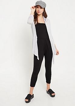 Gray Lightweight Long Sleeve Cardigan