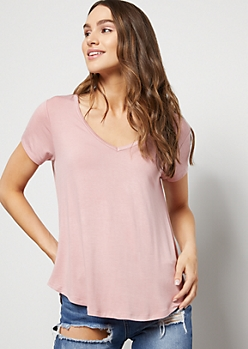 Light Pink Favorite Super Soft V Neck Tee