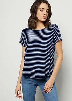 Navy Striped Short Sleeve Favorite Tee