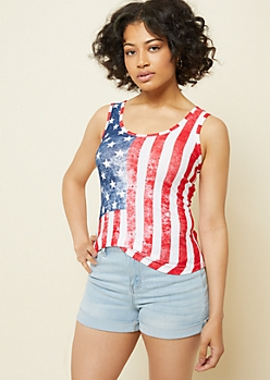 Faded American Flag Super Soft Tank Top