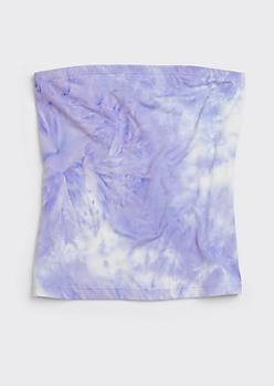 Neon Purple Tie Dye Soft Tube Top