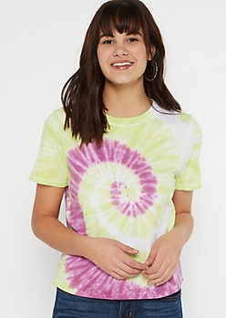 Light Green Tie Dye Tee