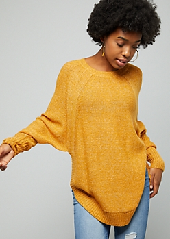 Mustard Oversized Side Slit Sweater