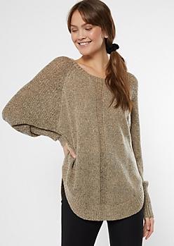 Oatmeal Marled Dolman Sweater