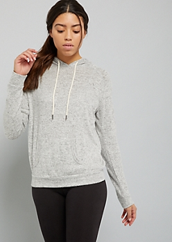 Gray Hacci Oversized Pullover Hoodie
