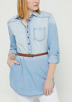 Denim Belted Tunic
