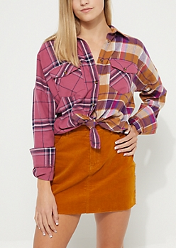 Pink Tonal Flannel Shirt
