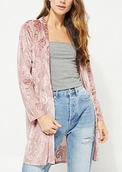 Pink Paisley Kimono
