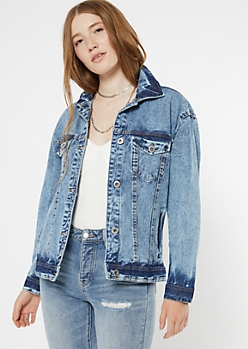 Acid Wash Oversized Jean Jacket