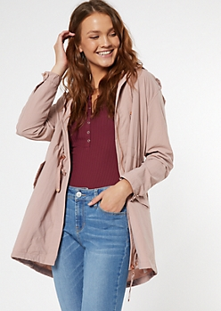 Pink Lightweight Toggle Anorak Jacket