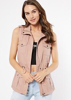 Pink Anorak Drawstring Vest