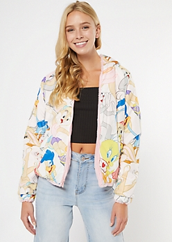 Reversable Sherpa Looney Tunes Jacket
