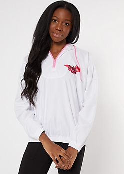 White Airbrush Baby Girl Windbreaker